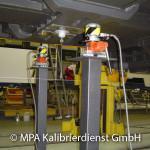 Eisenbahntypische Kalibrierungen - Eckkraft vor Ort