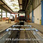 Eisenbahntypische Kalibrierungen - Mobile Radaufstandskraftmesseinrichtung