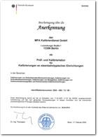 Anerkennung - Eisenbahnbundesamt