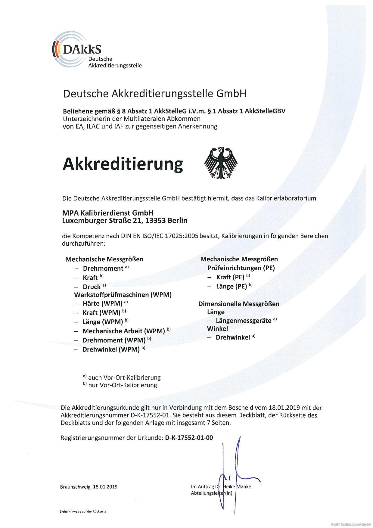 Akkreditierung - Deutsche Akkreditierungsstelle GmbH